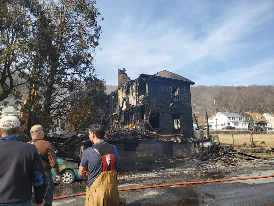 Fire consumes Cambria County double home